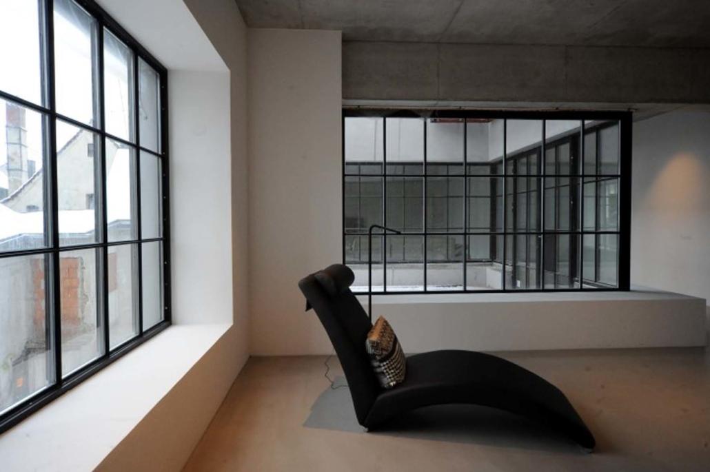 Stahlfenster mit Sprossen Loft Fenster wärmegedämmt