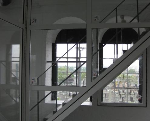 Feuerschutztrennwand, Aluminium - Glas