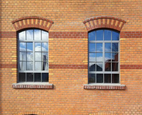 Stahlfenster mit Bogen zweiflüglig stulp Indistrie Stil 025-32