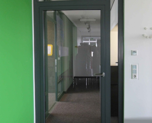 Feuerschutz - RS Tür, Stahl - Glas Konstruktion