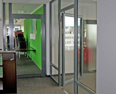 Feuerschutz - Rauchschutz Elemente, Stahl - Glas Konstruktion