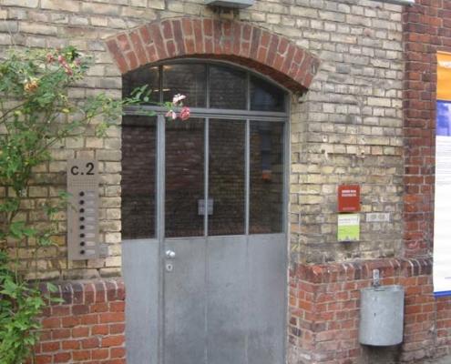 Eingangselement mit Bogen, Stahl verzinkt, Industrial Style