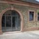 Stahl Eingangselement mit Bogen, wärmegedämmt, zweiflüglige Eingangstür mit Festverglasung
