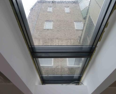 F90 Dachverglasung im Flachdach