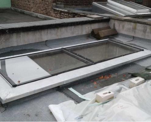 F90 Glasdach, wärmegedämmte Stahlkonstruktion mit Feuerschutzverglasung