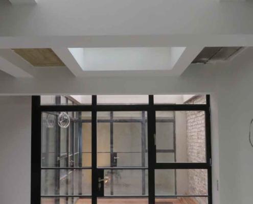 Trennwand mit Tür Industrial Style