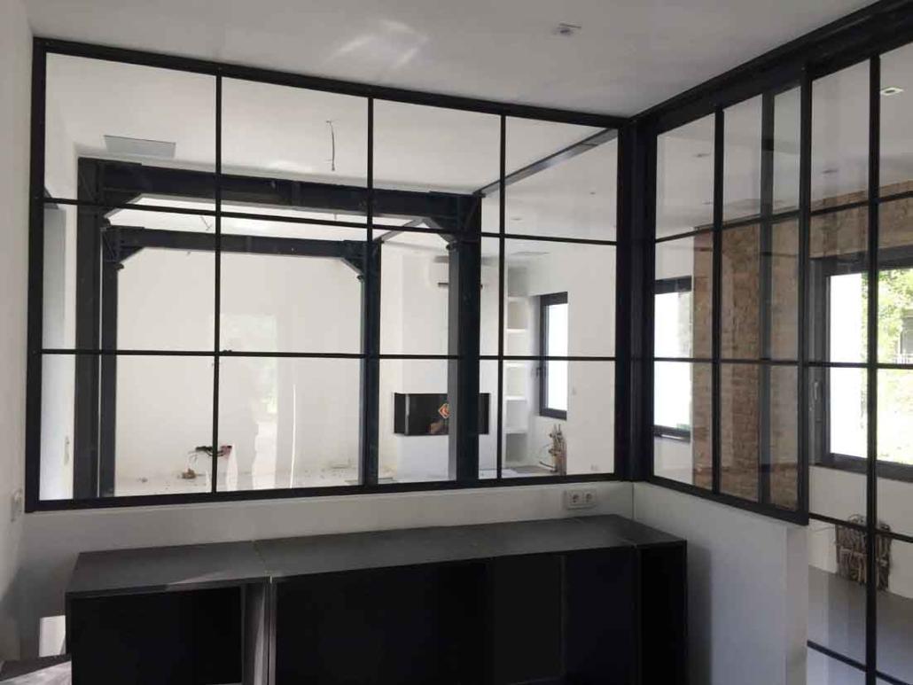 Stahl Glas Trennwand Industrie Look