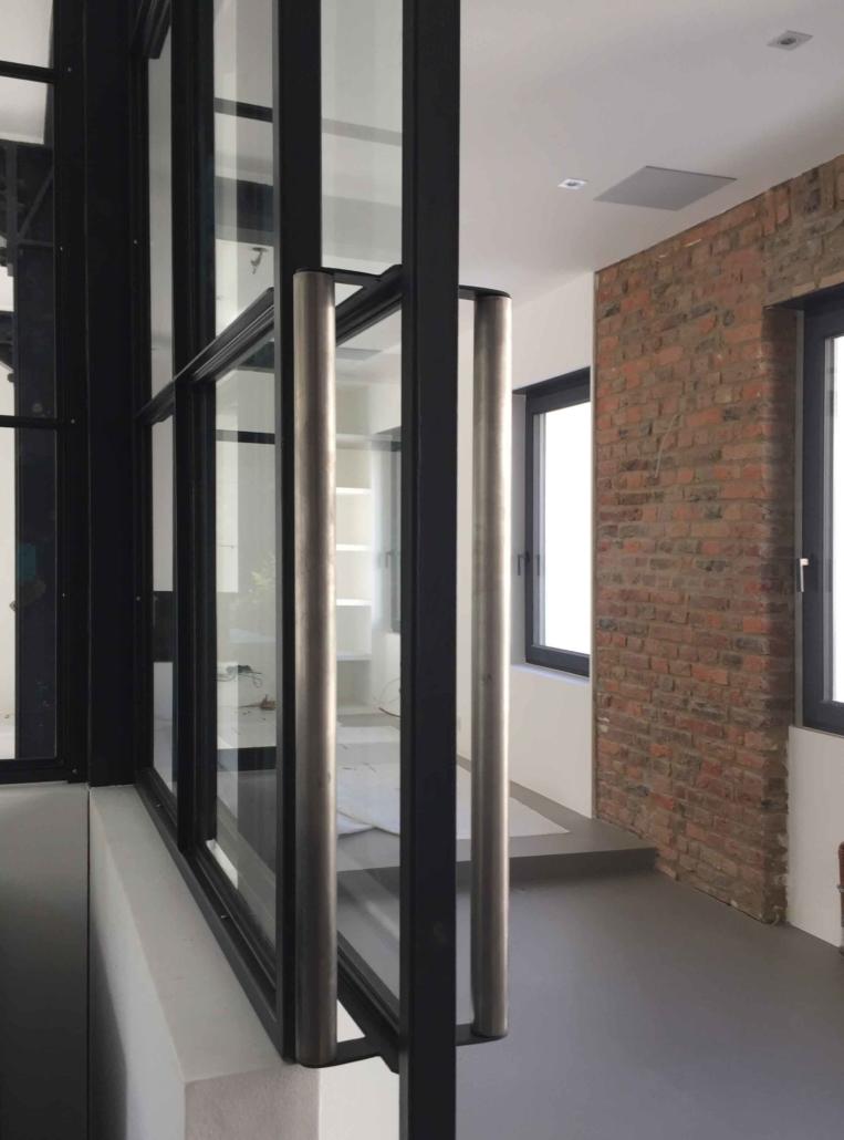 Stahl Glas Schiebetür Industrie Look